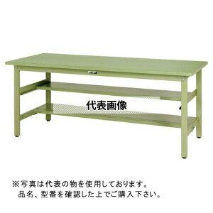 山金工業 ワークテーブル300シリーズ 固定式H740 中間棚・半面棚板付 SWS-TS1 SWS-975TS1-GG [個人宅配送不可]