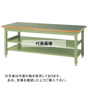 山金工業 ワークテーブル スーパータイプH740 中間棚・全面棚板付 SSR-TTS2 SSR-1875TTS2-GG [個人宅配送不可]