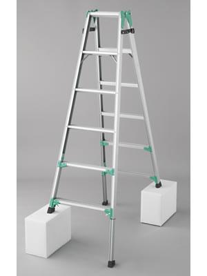 長谷川工業 脚部伸縮式(アジャスター) アルミ製はしご兼用脚立 RYZ1.0-18 [大型・重量物]