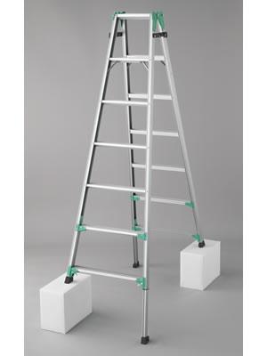長谷川工業 脚部伸縮式(アジャスター) アルミ製はしご兼用脚立 RYZ1.0-21 [大型・重量物]