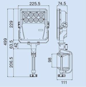 ハタヤLED投光器LEV-605(60W)【在庫有り】【あす楽】
