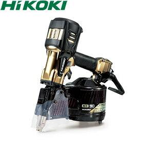 HiKOKI(日立工機) 高圧ロール釘打機 90mmモデル NV90HR2(N) パワー切替機構なし ハイゴールド ケース付