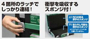 日立工機システムケース4No.0040-2659サイズ:W395×D295×H315mm丸のこ用トレー付