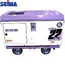 精和産業(セイワ) エスコン 3馬力 ガソリンエンジン防音コンプレッサー(オイル付) SCP-22GLS 3.3PS 300L/min …
