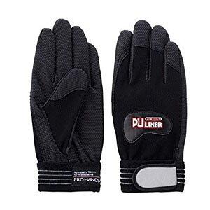 富士グローブ 高グリップ手袋 PUライナーα ブラック Lサイズ[0782] 1箱120双セット :FG0202