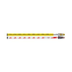 ムラテックKDS 測量『標尺』 アルミスタッフ5m 5段 K55IIW 巾/収納寸法:50/1,243mm
