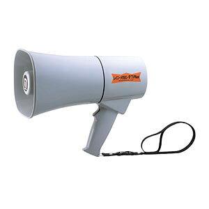 ノボル電機 トランジスターメガホン TS-634N グレー 6W 耐塵・耐水 IP66(防噴流形) ホイッスル音付