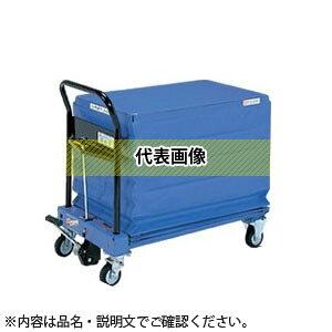 をくだ屋技研(O.P.K) ジャバラ付手動式リフトテーブル キャデ LT-H150K-7S