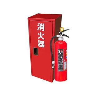 ヤマトプロテック 蓄圧式消火器 10型 YA-10NX+ステンレス消火器ボックスBF101S (4〜9セット単価) 業務用 粉末ABC消火器【在庫有り】