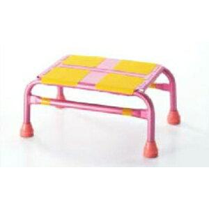 緑十字 踏み台 車昇降用踏み台ステップ-1 カラー:ピンク サイズ:幅440x奥行310x高さ200mm