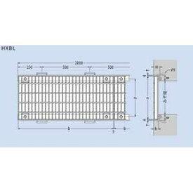 カネソウ スチール製グレーチング T20-HSBL-83038-E (本体のみ) ※受枠別売り 300×995×38 プレーンタイプ ボルト固定式 横断溝用
