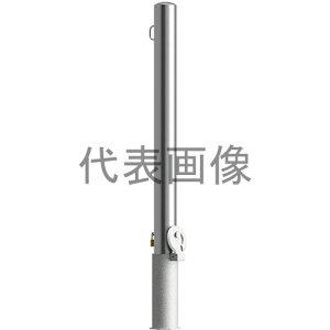 カネソウ 車止め Eシリーズ EA1085RE-HDL (1048153922) 片フック付 ステンレス製 鋳鉄製蓋 鍵付 [時間指定不可]