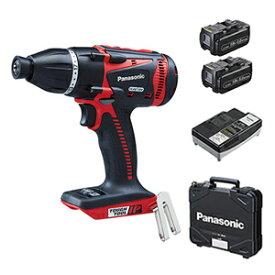 パナソニック Dual充電マルチインパクトドライバー 18V5.0Ah EZ75A9LJ2G-R(赤) (電池2個・充電器・ケース付)【在庫有り】【あす楽】
