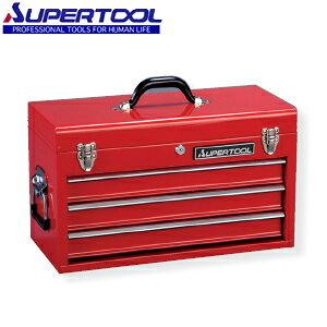 スーパーツール ツールケース(チェストタイプ工具箱) 3段引出し式 レッド S505R