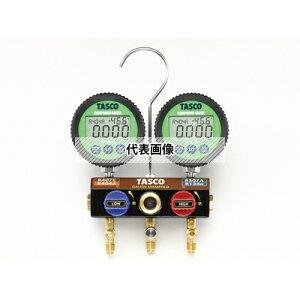 TASCO(タスコ) R404A R407C R134a 用 ボールバルブ式デジタルゲージマニホールドキット TA124DWV-2