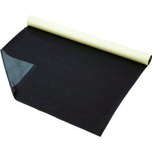 ■TRUSCO プロテクトシート テープ付 黒 1500X1M 5枚入 紙管1本巻 U1-1500-BK トラスコ中山[TR-1145772] [個人宅配送不可]