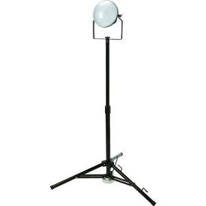 ■TRUSCO LED投光器 DELKURO 三脚タイプ 1灯 50W 5m アース付 2芯3芯両用タイプ RTLE505EPSK(1145839)