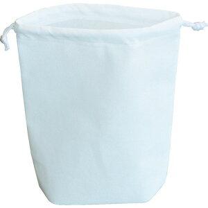 ■TRUSCO 不織布巾着袋 A4サイズ マチあり ホワイト 10枚入 HSA4-10-W トラスコ中山(株)[TR-1164518]