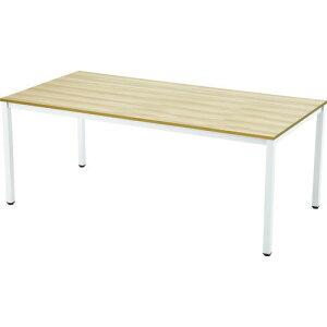 ■TRUSCO ミーティングテーブル W1800xD900 ナチュラル天板X白脚[品番:MT1890NAW][TR-1245797][送料別途見積り][法人・事業所限定]