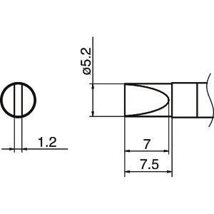 ■白光 こて先 5.2D型 〔品番:T36-D52〕[TR-1641327]