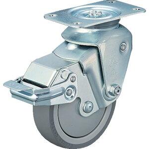 ■ハンマー クッションキャスター旋回式ウレタン車輪 100mm 線径2.9mm SP付[品番:935BBE-UZ100-29-BAR01][TR-3093000]