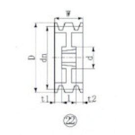 ■EVN ブッシングプーリー SPZ 300mm 溝数3 SPZ300-3 エバオン(株)[TR-3807223]