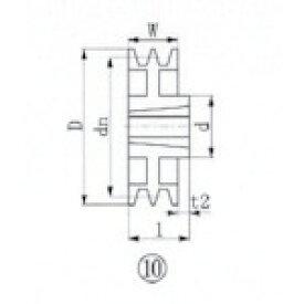 ■EVN ブッシングプーリー SPZ 315mm 溝数2 SPZ315-2 エバオン(株)[TR-3807240]