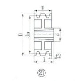 ■EVN ブッシングプーリー SPZ 315mm 溝数3 SPZ315-3 エバオン(株)[TR-3807258]
