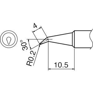 ■白光 こて先 0.2BR型 T18BR02(3844064)