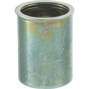 ■TRUSCO クリンプナット薄頭スチール 板厚3.5 M4X0.7 1000個入[品番:TBNF4M35SC][TR-4089987]