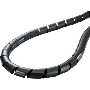 ■ヘラマンタイトン スパイラルチューブ (ポリエチレン製 耐候グレード) 黒 長さ50m TS-15-W [TR-4337816]