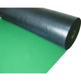■TRUSCO 塩ビマット ピラミッド グリーン 1.5mmX915mmX20m TEPM-920-GN トラスコ中山(株)[TR-7805292]