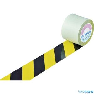 ■緑十字 ガードテープ(ラインテープ) 黄/黒(トラ柄) GT−101TR 100mm幅×100m[品番:148142][TR-8353774]