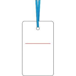 安全標識 30-E 『白無地』 ケーブルタグ 荷札式 両面印刷・ビニタイ付 70×40mm SCボード