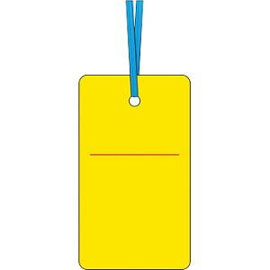 安全標識 30-F 『黄無地』 ケーブルタグ 荷札式 両面印刷・ビニタイ付 70×40mm SCボード