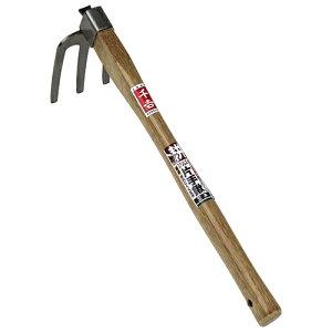 ◆藤原産業 千吉 ステンレス片手鍬 三本 サンホン