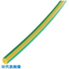 ■パンドウイット 熱収縮チューブ 標準長尺タイプ イエロー/グリーン 61M巻〔品番:HSTT38-T45〕[TR-1083187]