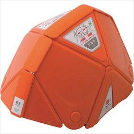 ■ミドリ安全 防災用折りたたみヘルメット フラットメット TSC-10 オレンジ〔品番:TSC-10-OR〕[TR-1142105]