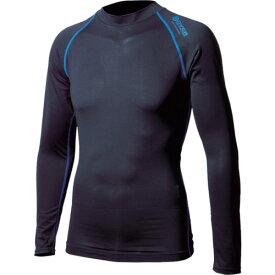 ■おたふく BTアウトラスト ロングスリーブ クルーネックシャツ ブラック/ブルー LL〔品番:JW-540-38-LL〕[TR-1227482]