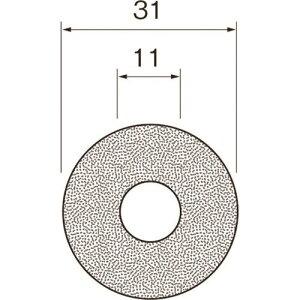 ■リューター ダイヤモンドディスク(裏面接着剤付)A6032 A6032(1269046)[送料別途見積り][法人・事業所限定][掲外取寄]