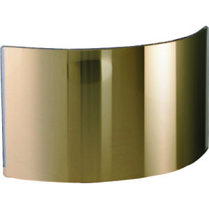 ■JUTEC 耐熱保護服 フード フリーサイズ用 ガラスバイザー ゴールド 〔品番:HWS1022G〕[TR-1371616]
