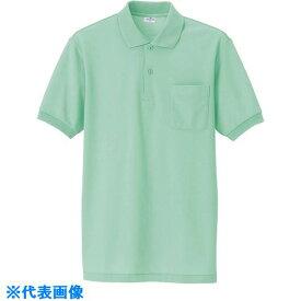 ■アイトス 半袖ポロシャツ(男女兼用) ネイビー M  〔品番:861-008-M〕[TR-1431409]