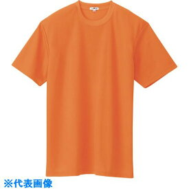 ■アイトス 吸汗速乾(クールコンフォート)半袖Tシャツ(ポケット無し)(男女兼用) オレンジ 4L  〔品番:10574-063-4L〕[TR-1434795]