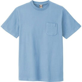 ■アイトス 半袖Tシャツ(ポケット付)(男女兼用) サックス M  〔品番:10531-007-M〕[TR-1439406]