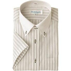 ■アイトス 半袖ドゥエボットーニボタンダウンシャツ グレー L  〔品番:43048-004-L〕[TR-1441196]