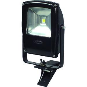 ■日動 LED投光器 フラットライト10W 電球色 本体黒 クリップタイプ 〔品番:LEN-F10C-BK-S〕[TR-1623646][送料別途見積り][法人・事業所限定][掲外取寄]