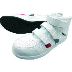 ■富士手袋 ミドルカット 安全靴 白 24.0CM 〔品番:6545-W-24.0〕[TR-1977713]