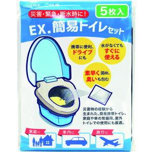 ■METEX 簡易トイレセット ベンリー袋 クロ(5枚X4)〔品番:EXKESVTOB〕[TR-2019365]