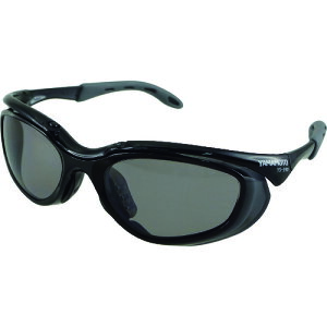 ■YAMAMOTO 2眼形保護めがね 偏光レンズモデル[品番:YS-390 PSMK BLK][TR-2072818]