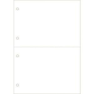 ■ヒサゴ マルチプリンタ帳票 B 5 白紙 2面 4穴〔品番:BP2053Z〕[TR-2146204][送料別途見積り][法人・事業所限定][外直送元]